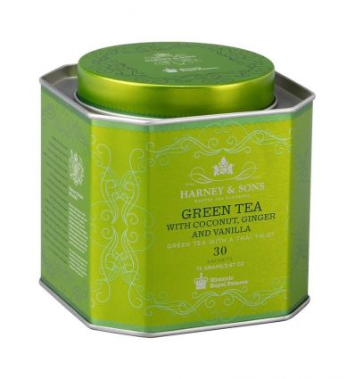 Herbata Harney & Sons Green Tea With Coconut - 30 szt