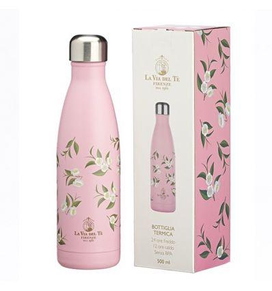 Butelka termiczna La Via Del Te Camelia Pastel Pink różowa 500 ml
