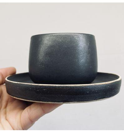 Spodek ceramiczny Toska Ceramica Graphit Saucer 13 cm Handmade