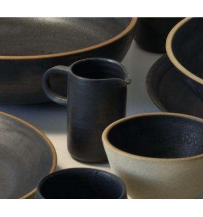 Dzbanek ceramiczny do mleka Toska Ceramica Graphit Milk Jug 300 ml Handmade