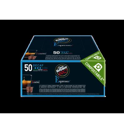 Kapsułki Vergnano Espresso Decaffeinato 1882 Bezkofeinowe  - 50 szt Odpowiednie do Nespresso