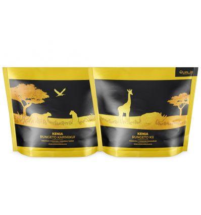 Zestaw kaw ziarnistych Specialty Qualia Kenia Karimikui i Kenia Kii - 250 g