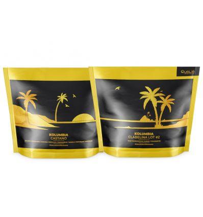 Zestaw kaw ziarnistych Specialty Qualia Kolumbia Castano i Kolumbia Villa Clabelina Lot 2 - 2 x 250 g