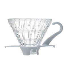 Hario szklany Drip V60-01 biały