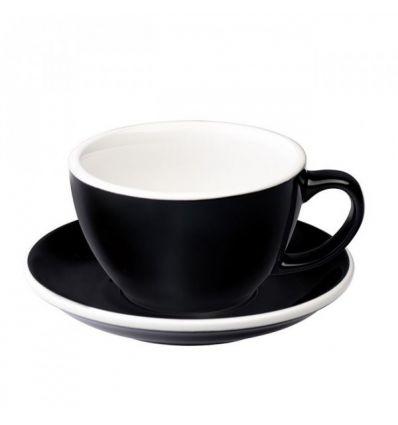 Loveramics Egg - Filiżanka i spodek Latte 300 ml - Black