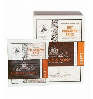 Herbata Harney & Sons Hot Cinnamon Spice w kartonie - 20 szt