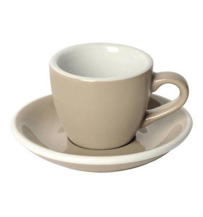 Loveramics Egg - Filiżanka i spodek Espresso 80 ml - Taupe