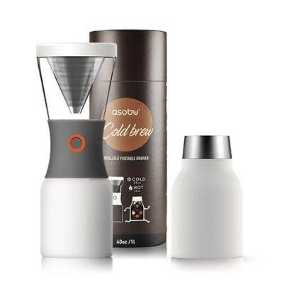 Asobu Cold Brew Insulated Portable Brewer - Biały
